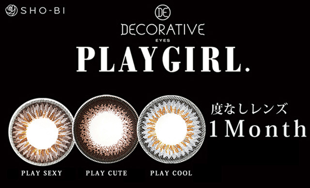 PLAYGIRL 度なしレンズ 1Month 6pieces PLAYSEXY PLAYCUTE PLAYCOOL
